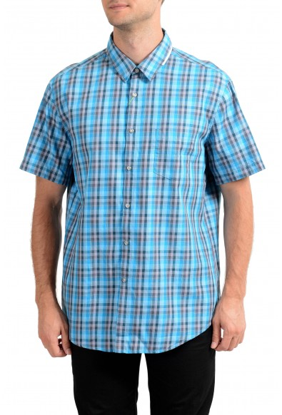 Hugo Boss Men's C-Bowa Regular Fit Plaid Short Sleeve Casual Shirt