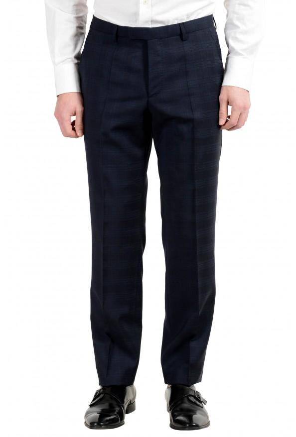 "Hugo Boss ""Johnstons2/Lenon"" Men's 100% Wool Blue Plaid Two Button Suit: Picture 8"