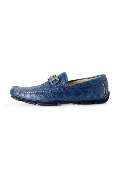 Salvatore Ferragamo Men's PARIGI Croc Leather Loafers Shoes: Picture 2