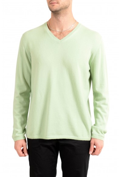 Malo Men's Green 100% Cashmere Pullover Sweater