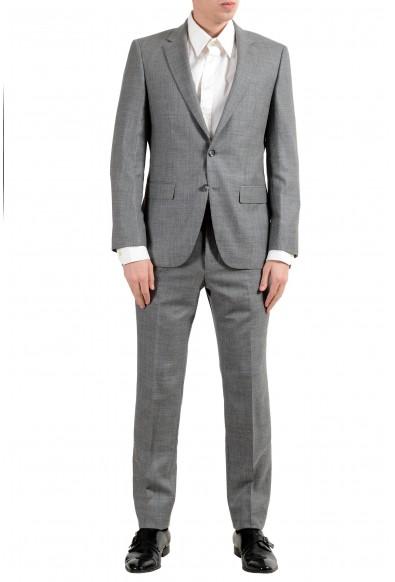 "Hugo Boss ""T-Harvers4/Glover3"" Men's Silk Wool Gray Slim Two Button Suit"