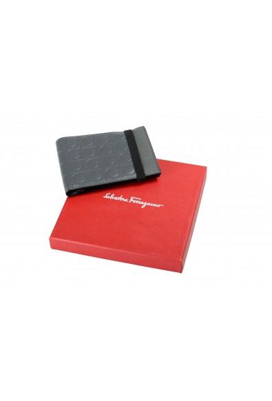 Salvatore Ferragamo Men's 100% Textured Leather Gray Logo Print Bifold Wallet: Picture 2
