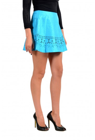 Just Cavalli Women's Bright Blue Embellished Flare Mini Skirt: Picture 2
