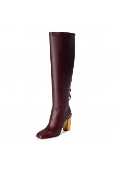 """Salvatore Ferragamo Women's """"BLAVY"""" Leather High Heel Boots Shoes"""