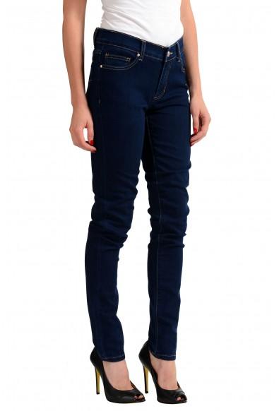 Versace Jeans Dark Blue Women's Straight Leg Denim Jeans: Picture 2