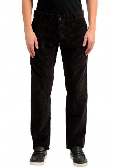 Dolce & Gabbana Men's Dark Brown Corduroy Casual Pants