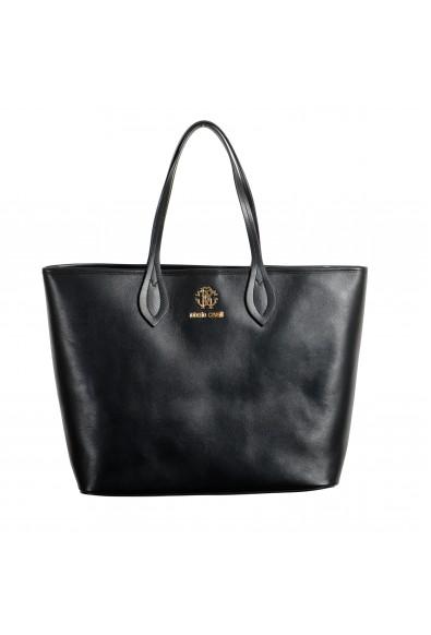 Roberto Cavalli Women's Black Leather Shoulder Handbag Tote Bag