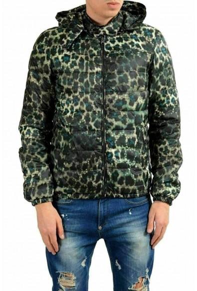 Just Cavalli Men's Insulated Full Zip Hooded Reversible Parka Jacket