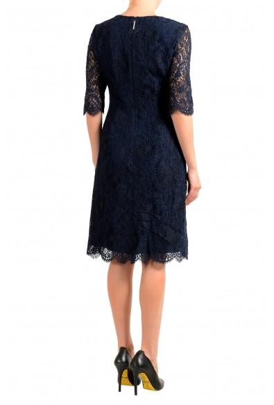 "Hugo Boss Women's ""Kirelia-1"" Dark Blue Lace Shift Dress: Picture 2"