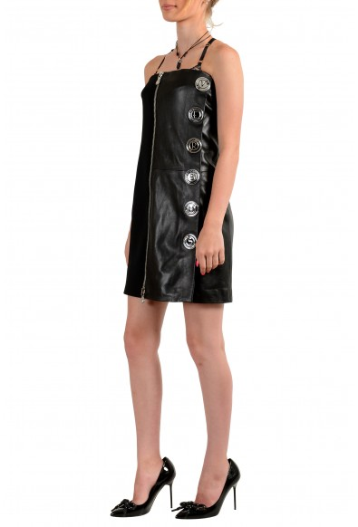Versus by Versace Women's Leather Embellished Strapless Mini Dress : Picture 2