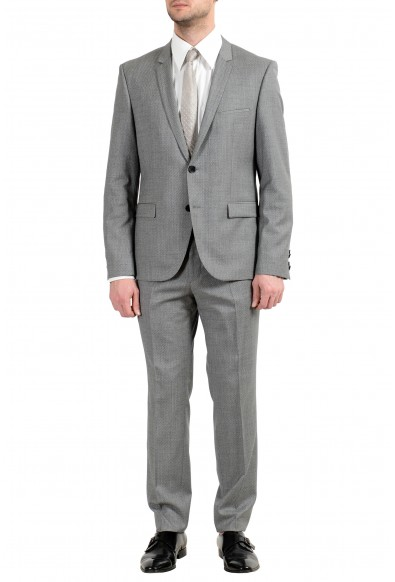 "Hugo Boss ""Adris4/Heilon"" Men's 100% Wool Gray Two Button Suit"