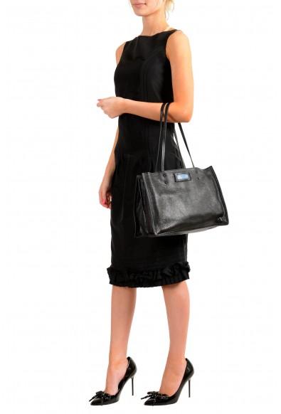 Prada Women's 1BG122 Black 100% Leather Shopping Tote Handbag Shoulder Bag: Picture 2