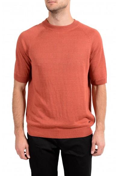 "Hugo Boss ""Tito"" Men's 100% Linen Knitted Crewneck Short Sleeve Casual Shirt"