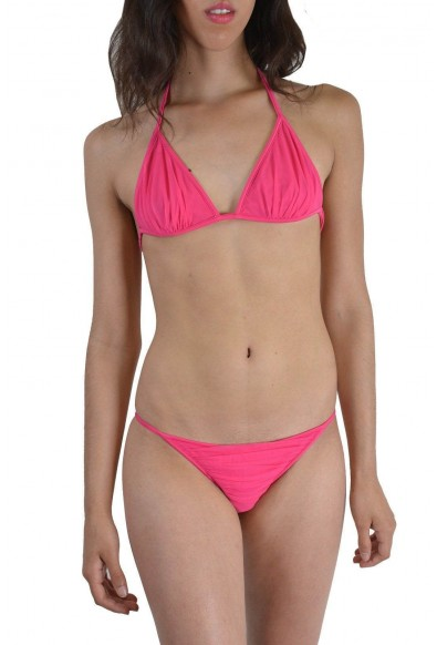 Dsquared Women's Pink Metal Detail Decorated Two Piece Bikini Swimsuit US M EU 42
