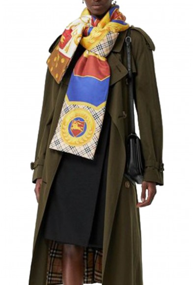 Burberry London Unisex Multi-Color Silk Quilted Scarf: Picture 2