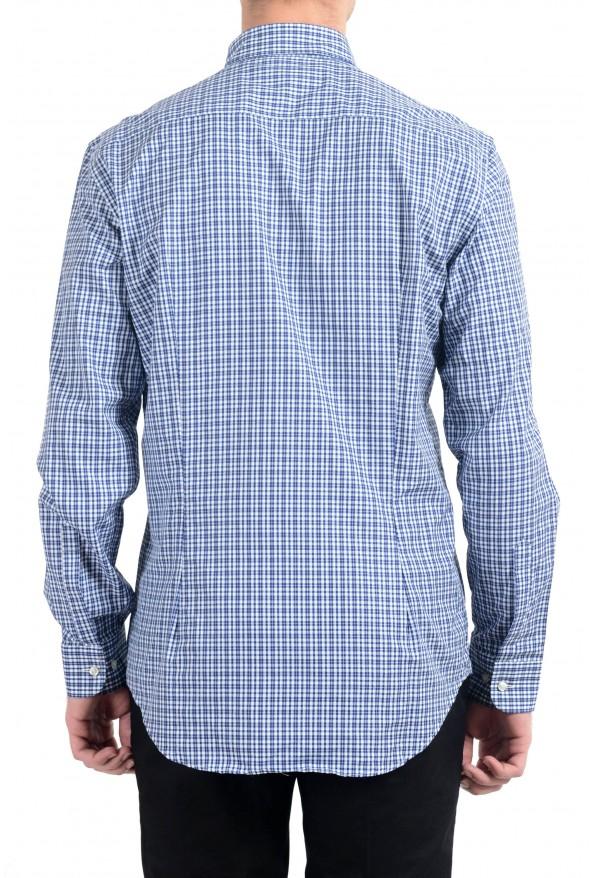 Etro Men's Blue & White Plaid Long Sleeve Dress Shirt : Picture 5