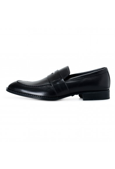 Versace Men's DSU6638 Black Leather Moccasins Slip On Shoes : Picture 2