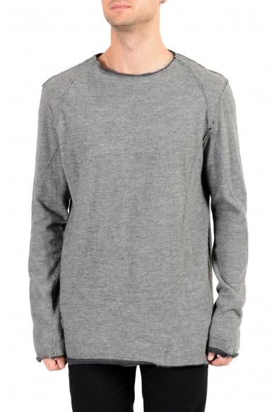 ZZegna Men's Gray Alpaca Wool Crewneck Pullover Sweater
