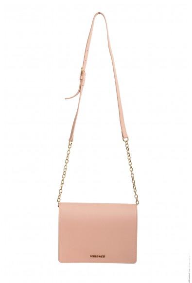 Versace Women's Dust Pink Leather Crossbody Bag