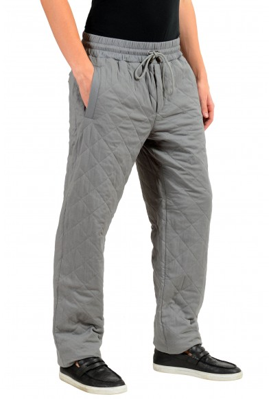 Dolce & Gabbana Men's Silk Thermal Padded Gray Casual Pants: Picture 2
