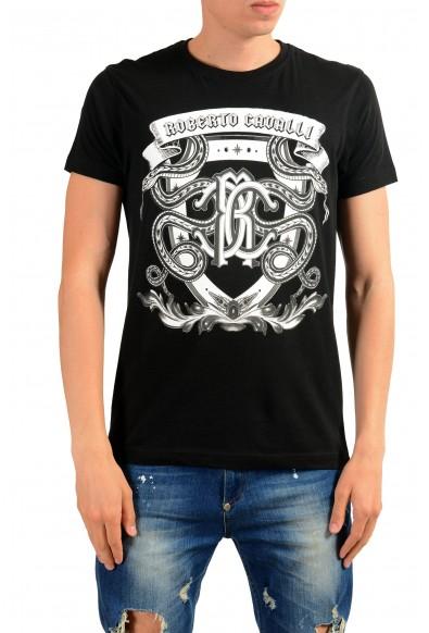 Roberto Cavalli Men's Black Graphic Print T-Shirt