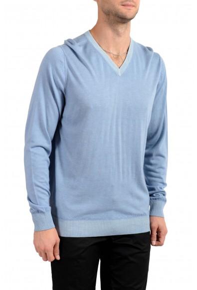 Kiton Napoli Men's Blue V-Neck 100% Cashmere Pullover Sweater: Picture 2