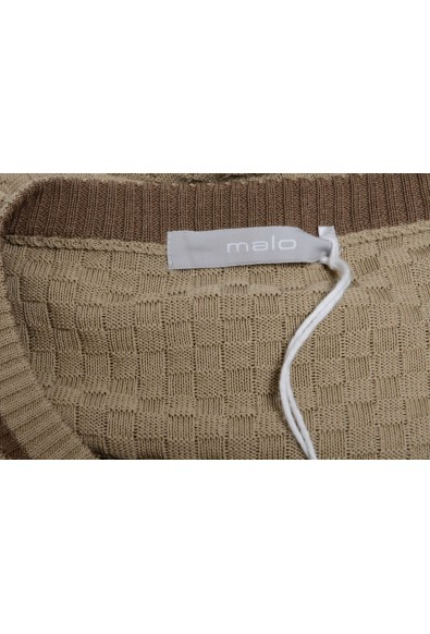 Malo Caramel Brown Men's Crewneck Light Sweater: Picture 2