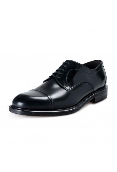 "Salvatore Ferragamo Men's ""Gatto"" Black Leather Lace Up Oxfords Shoes"