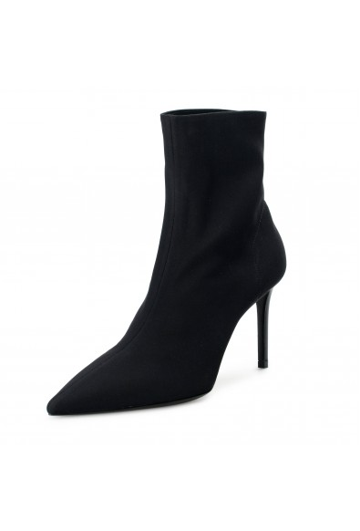 Prada Women's IT003M Black High Heel Boots Shoes