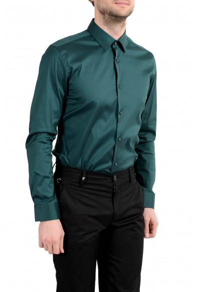 Hugo Boss Herwing Men's Green Extra Slim Long Sleeve Dress Shirt : Picture 2