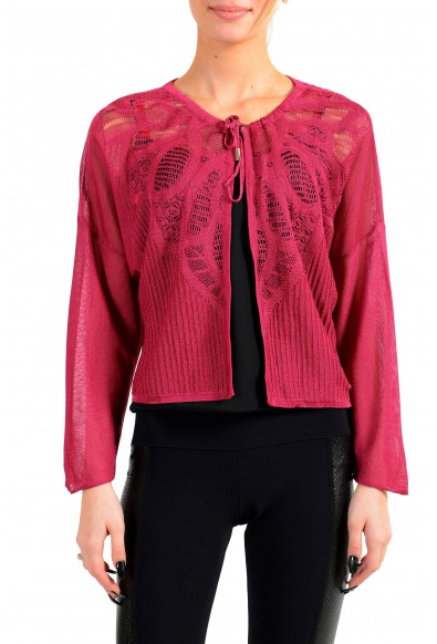 John Galliano Women's Red Bolero Cardigan Knitted Sweater