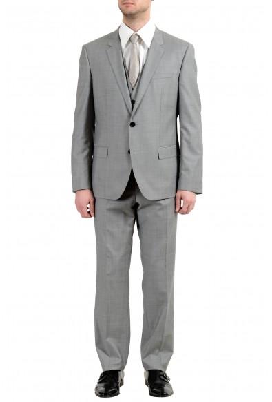 """Hugo Boss """"C-Huge1/C-Genius/WE"""" Men's 100% Wool Two Button Gray Three-Piece Suit"""