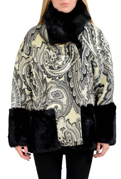 Just Cavalli Wool Multi-Color Rabbit Hair Women's Basic Jacket: Picture 2