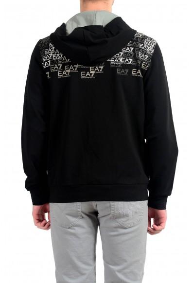"""Emporio Armani EA7 """"Train Premium"""" Men's Black Graphic Full Zip Hoodie: Picture 2"""