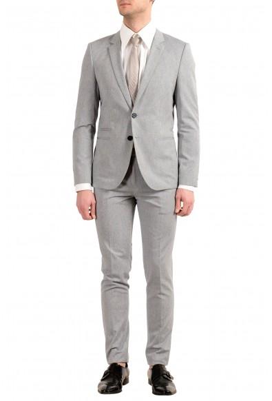 "Hugo Boss ""Arlid/Heilon1"" Men's Silk Gray Two Button Suit"