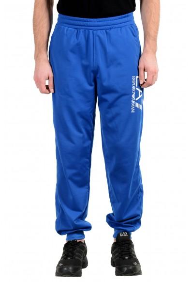 "Emporio Armani EA7 ""Train Big"" Men's Blue Track Sweat Pants"