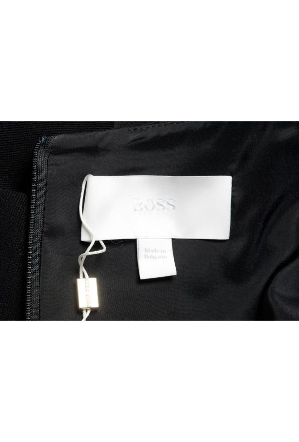 "Hugo Boss Women's ""Drapena"" Black Belted Sleeveless Dress: Picture 6"