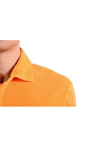Malo Men's Orange Short Sleeve Polo Shirt : Picture 2