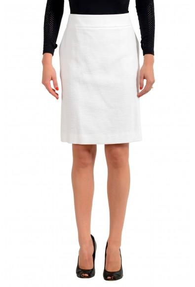 """Hugo Boss Women's """"Rajla"""" White A-Line Skirt"""
