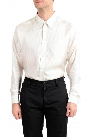 "Hugo Boss Men's ""Mickey_RW"" 100% Silk Striped Long Sleeve Shirt: Picture 2"
