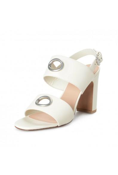 Valentino Garavani Women's Ivory Leather High Heel Sandals Shoes