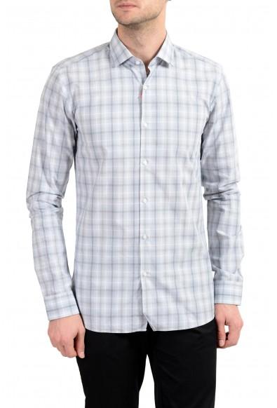 "Hugo Boss ""EastonX"" Men's Plaid Slim Long Sleeve Dress Shirt"