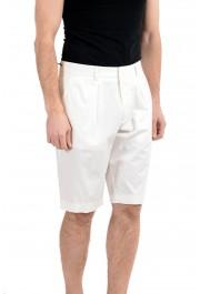 "Hugo Boss ""Kirio-Short-Pleats"" Men's White Pleated Casual Shorts: Picture 2"