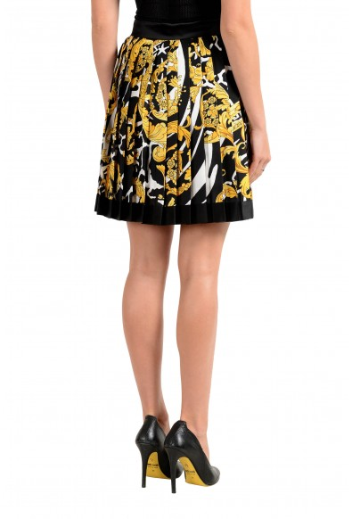 Versace Women's Savage Barocco Print 100% Silk Pleated Skirt : Picture 2