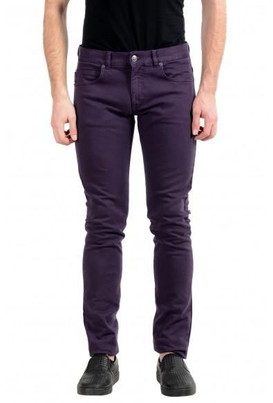 Versace Men's Purple Stretch Cody Fit Slim Jeans