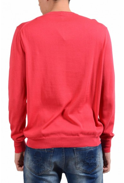 Malo Men's Rose Red Crewneck Light Pullover Sweater: Picture 2