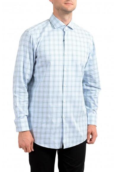 Hugo Boss Men's Mark US Sharp Fit Plaid Long Sleeve Dress Shirt
