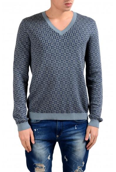 Malo Men's Cashmere Silk Jacquard V-Neck Sweater