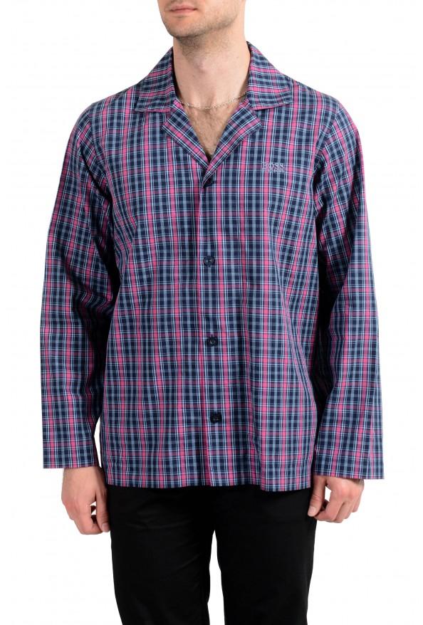 Hugo Boss Men's Plaid Long Sleeve Cotton Pajama Shirt