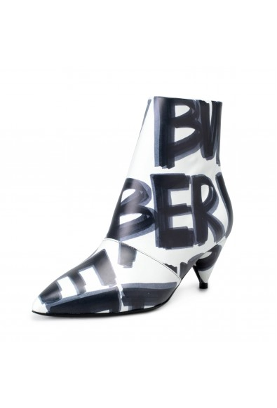 """Burberry Women's """"WILSBECK"""" Leather Heeled Ankle Boots Shoes"""
